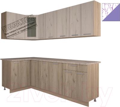 Готовая кухня Интерлиния Арт Мила 14x23 (арт фиолет)