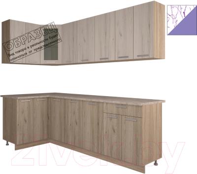 Готовая кухня Интерлиния Арт Мила 14x24 (арт фиолет)