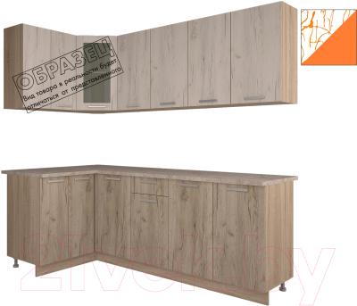 Готовая кухня Интерлиния Арт Мила 12x22 (арт шафран)
