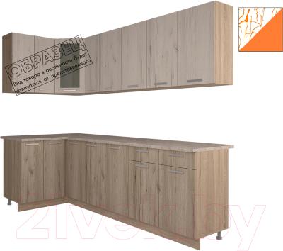 Готовая кухня Интерлиния Арт Мила 12x25 (арт шафран)