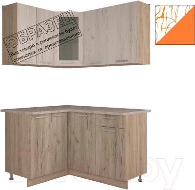 Готовая кухня Интерлиния Арт Мила 14x14 (арт шафран)