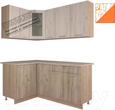 Готовая кухня Интерлиния Арт Мила 14x17 (арт шафран)