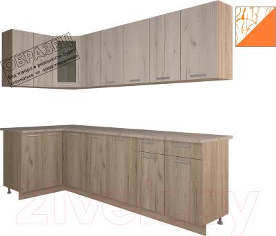 Готовая кухня Интерлиния Арт Мила 14x26 (арт шафран)