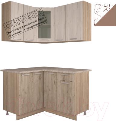 Готовая кухня Интерлиния Арт Мила 12x14 (арт шоколад)