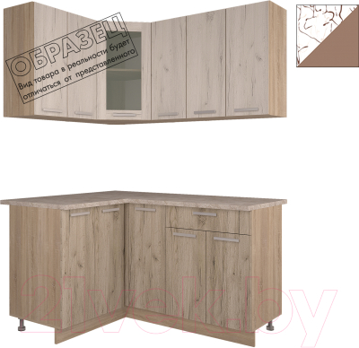Готовая кухня Интерлиния Арт Мила 12x15 (арт шоколад)