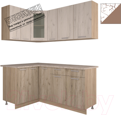 Готовая кухня Интерлиния Арт Мила 12x17 (арт шоколад)