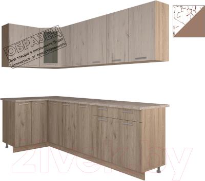 Готовая кухня Интерлиния Арт Мила 12x25 (арт шоколад)