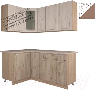 Готовая кухня Интерлиния Арт Мила 14x17 (арт шоколад)