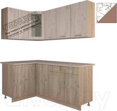 Готовая кухня Интерлиния Арт Мила 14x18 (арт шоколад)