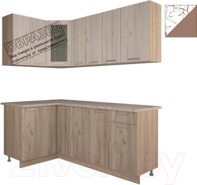 Готовая кухня Интерлиния Арт Мила 14x19 (арт шоколад)