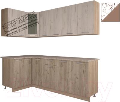Готовая кухня Интерлиния Арт Мила 14x22 (арт шоколад)