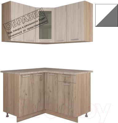 Готовая кухня Интерлиния Арт Мила 12x13 (белый/графит)