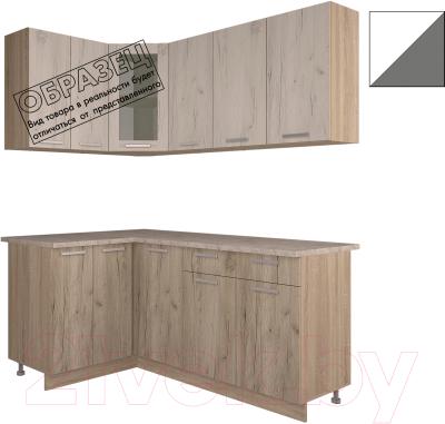 Готовая кухня Интерлиния Арт Мила 12x18 (белый/графит)
