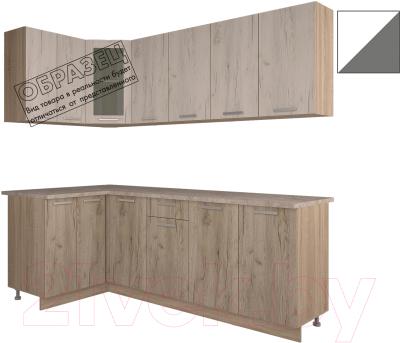 Готовая кухня Интерлиния Арт Мила 12x22 (белый/графит)