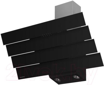 Вытяжка декоративная Maunfeld Cascada Quart 90 (черный)