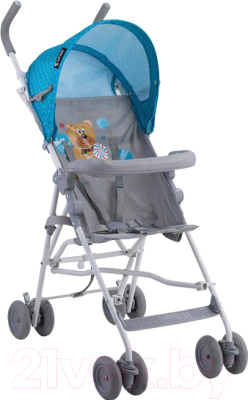Детская прогулочная коляска Lorelli Light 2017 Blue&Grey Hello Bear (10020471718)