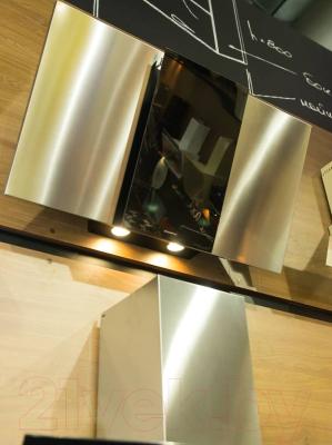 Вытяжка декоративная Maunfeld Irwell GS 90 (нержавеющая сталь/черное стекло)