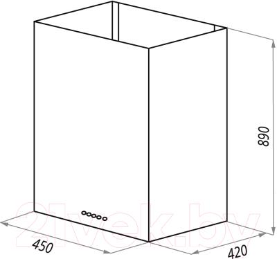 Вытяжка коробчатая Maunfeld Bath Plus 45 (нержавеющая сталь)