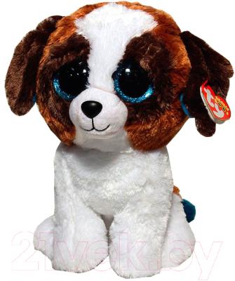 Мягкая игрушка TY Beanie Boo's. Щенок Duke / 37012 (коричневый/белый)