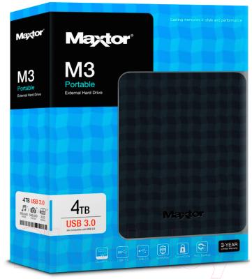 Внешний жесткий диск Seagate M3 Portable 4TB (STSHX-M401TCBM)