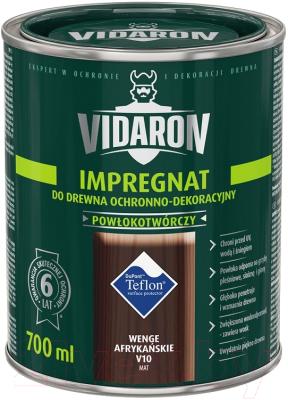 Защитно-декоративный состав Vidaron Impregnant V10 Африканское венге (700мл)