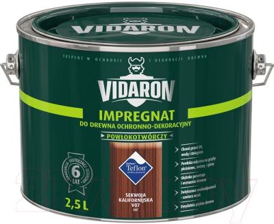 Защитно-декоративный состав Vidaron Impregnant V07 Калифорнийская секвойя (2.5л)
