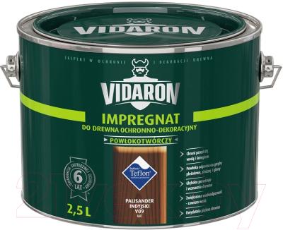 Защитно-декоративный состав Vidaron Impregnant V09 Индийский палисандр (2.5л)