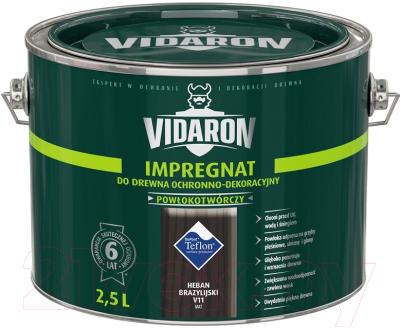 Защитно-декоративный состав Vidaron Impregnant V11 Бразильское черное дерево (2.5л)