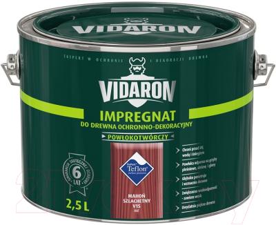 Защитно-декоративный состав Vidaron Impregnant V15 Благородное красное дерево (2.5л)