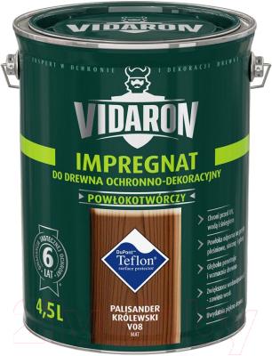 Защитно-декоративный состав Vidaron Impregnant V08 Королевский палисандр (4.5л)