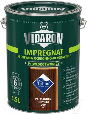 Защитно-декоративный состав Vidaron Impregnant V09 Индийский палисандр (4.5л)