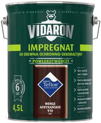 Защитно-декоративный состав Vidaron Impregnant V10 Африканское венге (4.5л)