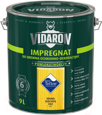 Защитно-декоративный состав Vidaron Impregnant V02 Золотистая сосна (9л)