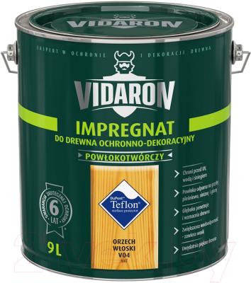 Защитно-декоративный состав Vidaron Impregnant V04 Грецкий орех (9л)