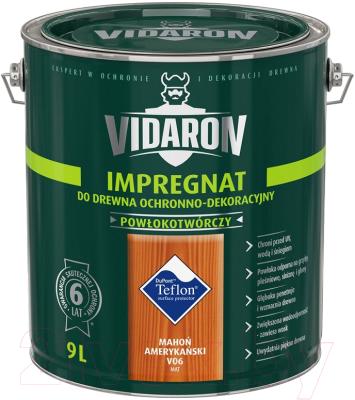 Защитно-декоративный состав Vidaron Impregnant V06 Американское Красное Дерево (9л)