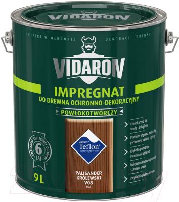 Защитно-декоративный состав Vidaron Impregnant V08 Королевский палисандр (9л )