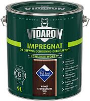 Защитно-декоративный состав Vidaron Impregnant V10 Африканское венге (9л) -