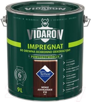 Защитно-декоративный состав Vidaron Impregnant V10 Африканское венге (9л)