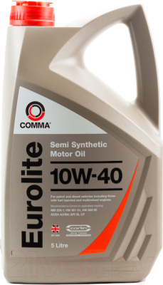 Моторное масло Comma Eurolite 10W40 / EUL5L (5л)