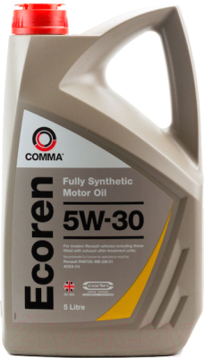 Моторное масло Comma Ecoren 5W30 / ECR5L (5л)