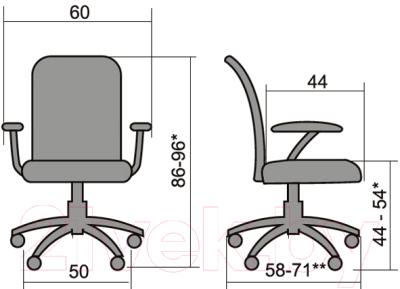 Кресло офисное Metta FP-8PL (серый)