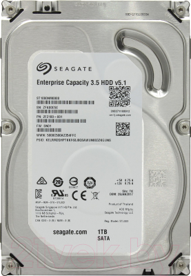 Жесткий диск Seagate Enterprise Capacity 3.5 v5.1 1TB (ST1000NM0008)