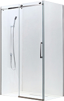 Душевой уголок Adema Slide-100 / AD7713-100 (тонированное стекло) -