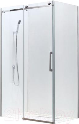 Душевой уголок Adema Slide-100 / AD7713-100 (тонированное стекло)