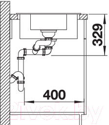 Мойка кухонная Blanco Legra 6S / 522211
