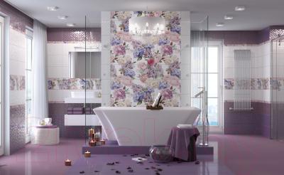Декоративная плитка Golden Tile Гортензия 5 (245x400, лиловый)