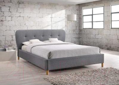 Двуспальная кровать Signal Bella 160x200 (серый)