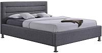 Двуспальная кровать Signal Liden 160x200 (серый) -