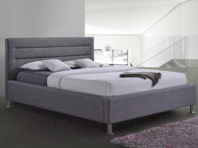 Двуспальная кровать Signal Liden 160x200 (серый)