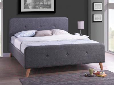 Полуторная кровать Signal Malmo 140x200 (серый)